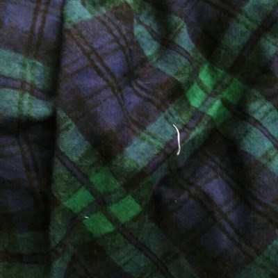 black green check